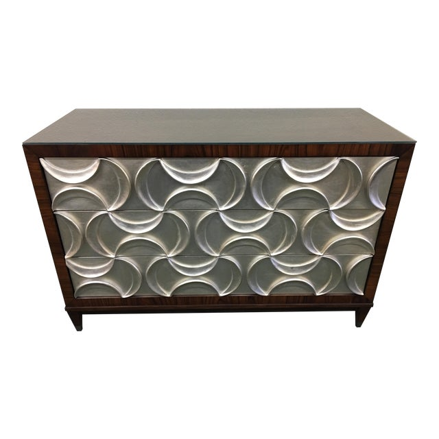 Caracole Rosewood & Silver Tie One On Three Drawer Chest - Image 1 of 11