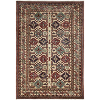 """New Traditional Hand Knotted Area Rug - 4'4"""" x 6'2"""""""