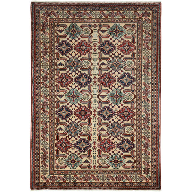 "Image of New Traditional Hand Knotted Area Rug - 4'4"" x 6'2"""