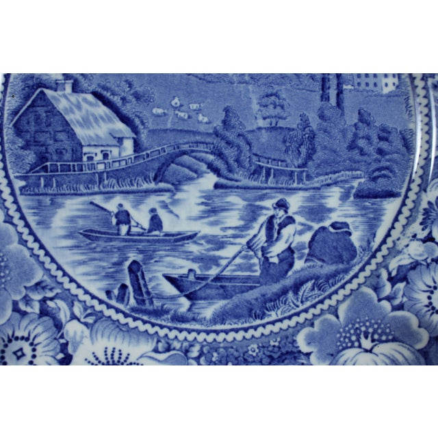 Image of Rural England Blue Plates - Set of 4
