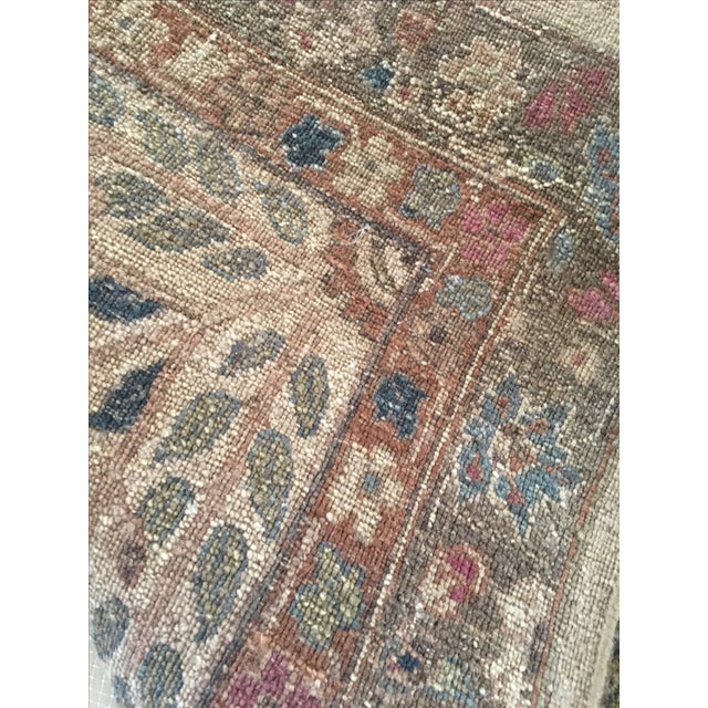 """Handknotted Rust & Teal Wool Area Rug- 10' x 17'8"""" - Image 5 of 8"""