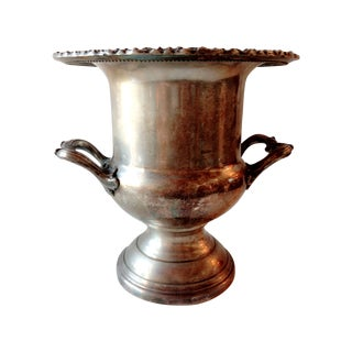 Silver Plated Champagne Loving Cup Trophy