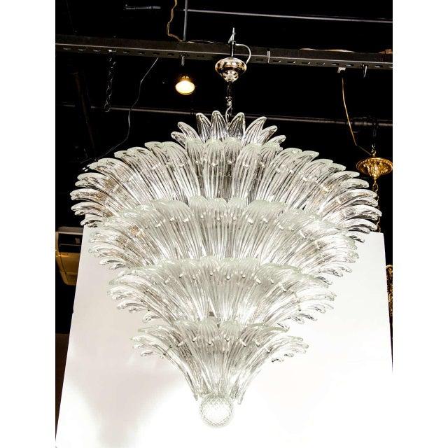 Exquisite Five-Tier Palma Murano Glass Chandelier - Image 2 of 9