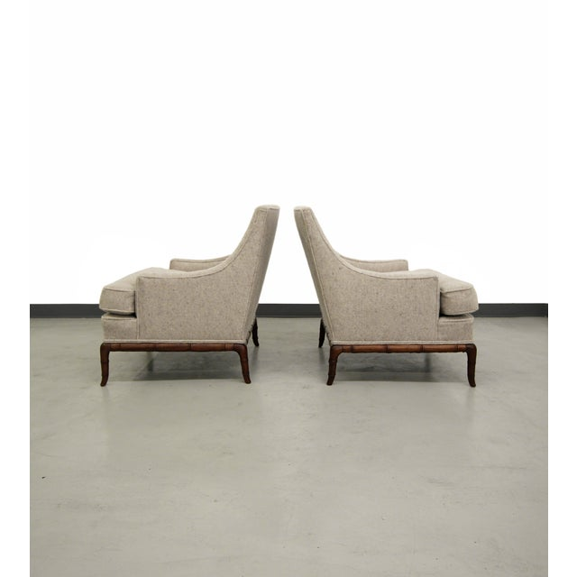 Bamboo Base Mid-Century Lounge Chairs - A Pair - Image 5 of 7