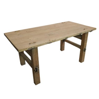 Reclaimed Wood Beijing Style Farmhouse Dining Table
