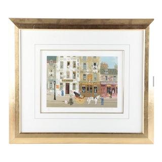 """Michel Delacroix Limited Edition Lithograph on Paper """"Souvenirs De Paris"""""""