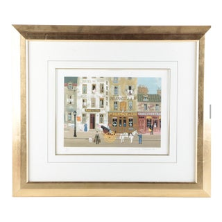 "Michel Delacroix Limited Edition Lithograph on Paper ""Souvenirs De Paris"""