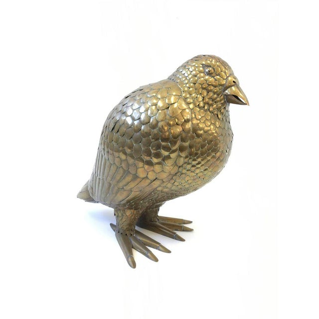 Large Brass Bird Sculpture by Sergio Bustamante - Image 3 of 8