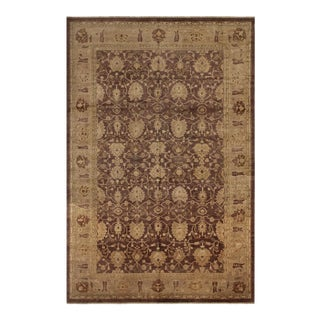 "Lahore Peshawar Hettie Brown/ Tan Wool Rug - 11'11"" X 18'1"""