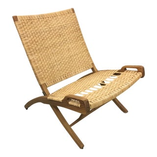 Natural Wood Low Chair