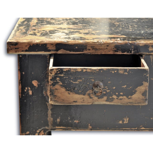 Distressed Black 5 Drawer Console - Image 3 of 3