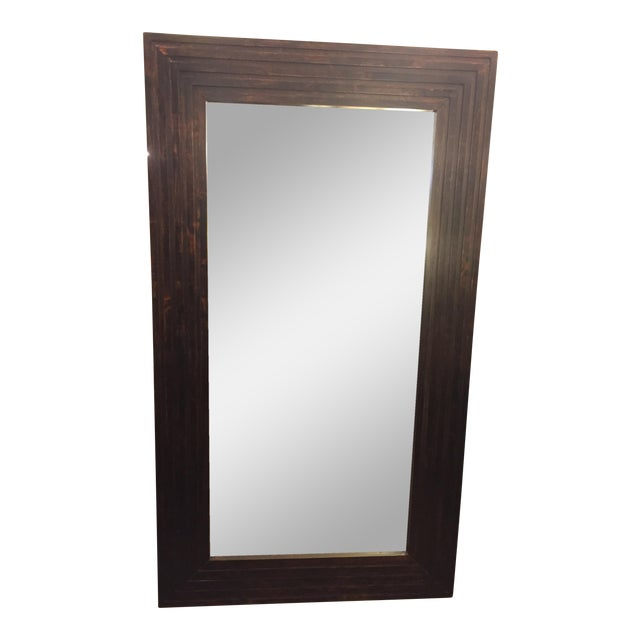 Wood framed floor mirror chairish for Framed floor mirror