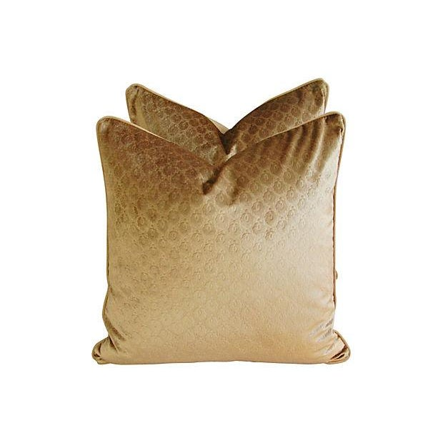 Custom French Pierre Frey Velvet Pillows - A Pair - Image 2 of 7