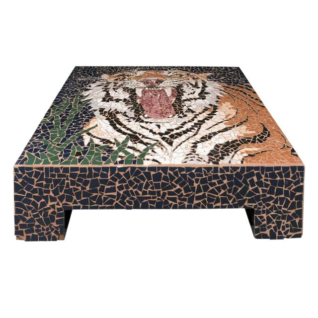 Mosaic Tiger Coffee Table - Image 1 of 7