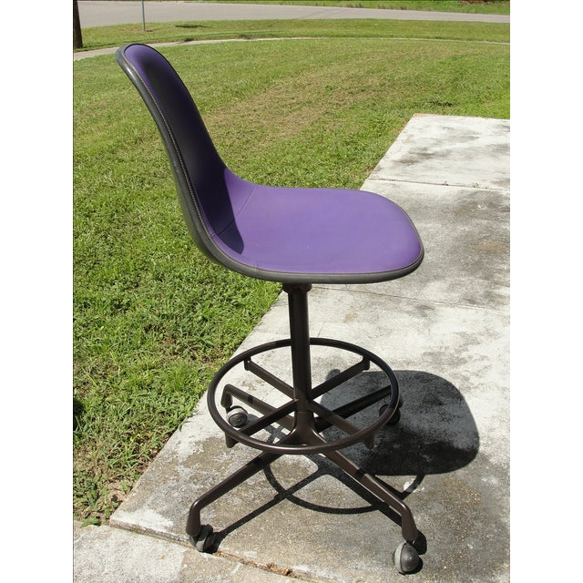 Mid-Century Eames Purple Stool by Herman Miller - Image 6 of 9