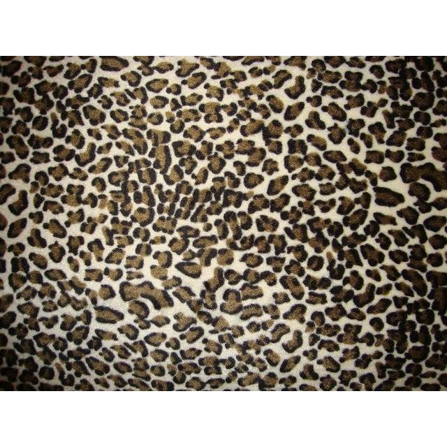 Leopard print upholstered bench chairish Leopard print bench