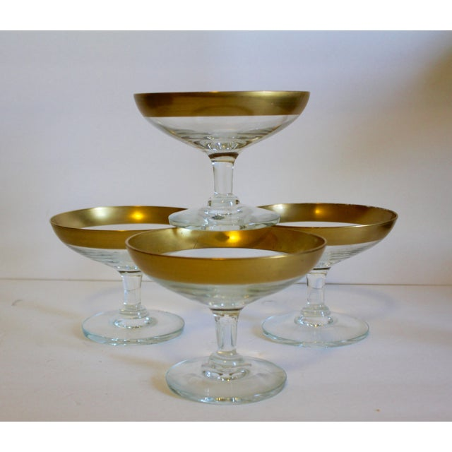 Image of Dorothy Thorpe Gold Rim Compotes - Set of 4