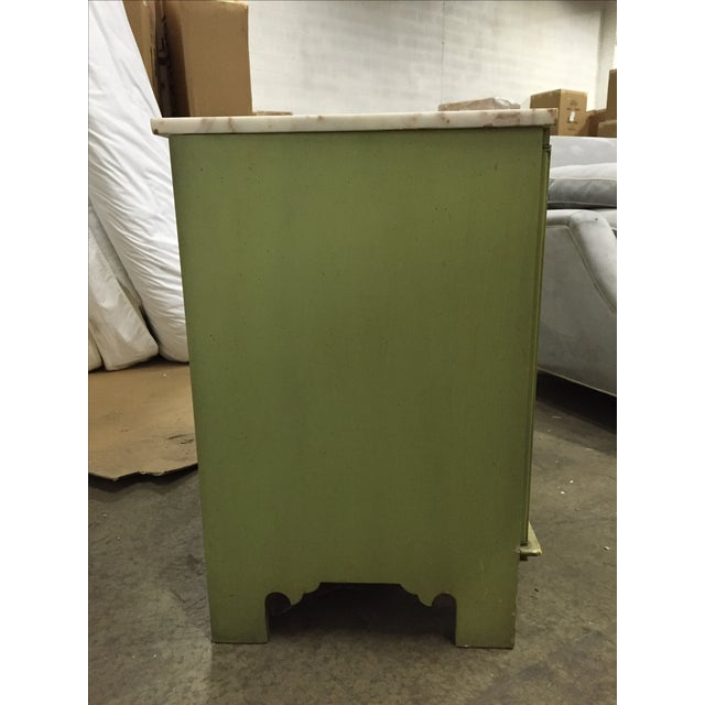 Vintage Green & White Cabinet - Image 6 of 9