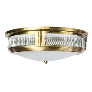 Attributed to Perzel 1940's Art Deco Flush Mount