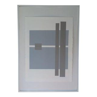 Silkscreen Geometric Unsigned Artwork on Paper