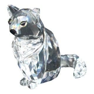 Swarovski Crystal Cat Figure