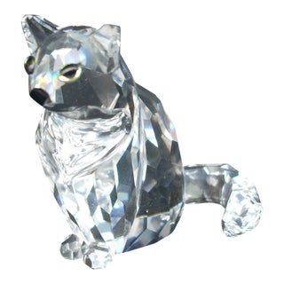 Swarovski Crystal Cat Figure