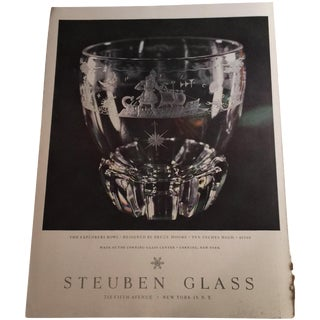 1948 Steuben Glass Ad