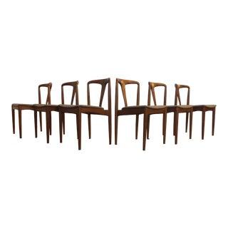 Johannes Andersen Teak Danish Dining Chairs - Set of 6