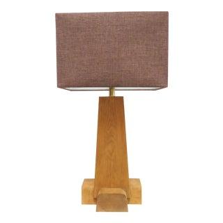 Martin & Brockett Cross Base Pine Table Lamp