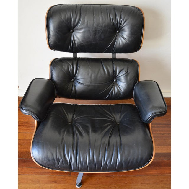 Vintage Herman Miller Rosewood Eames Lounge Chair & Ottoman - Image 3 of 11