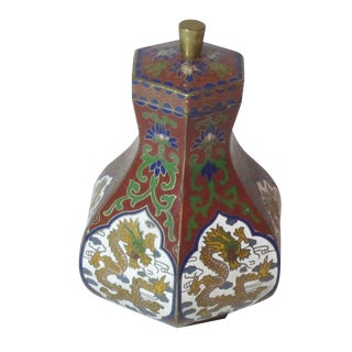 Cloisonne Dragon Jar
