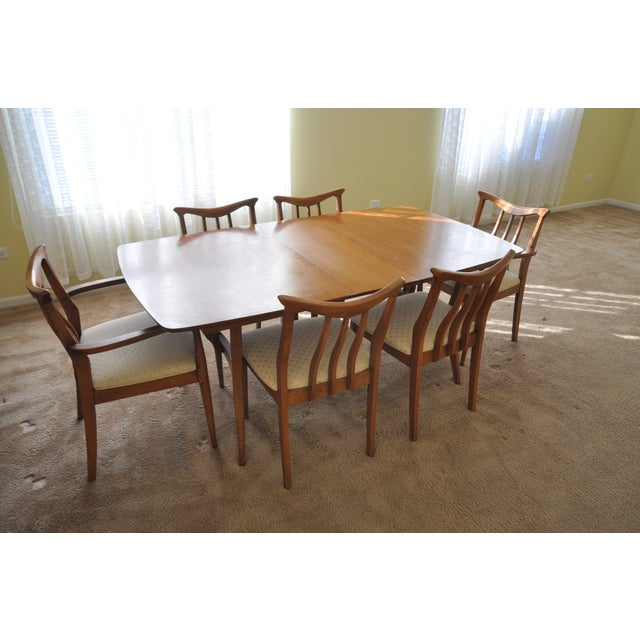 Mid Century Modern Walnut Dining Set Chairish