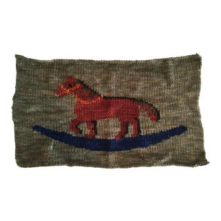Ralph Lauren Rocking Horse Knit Lumbar Pillow Front