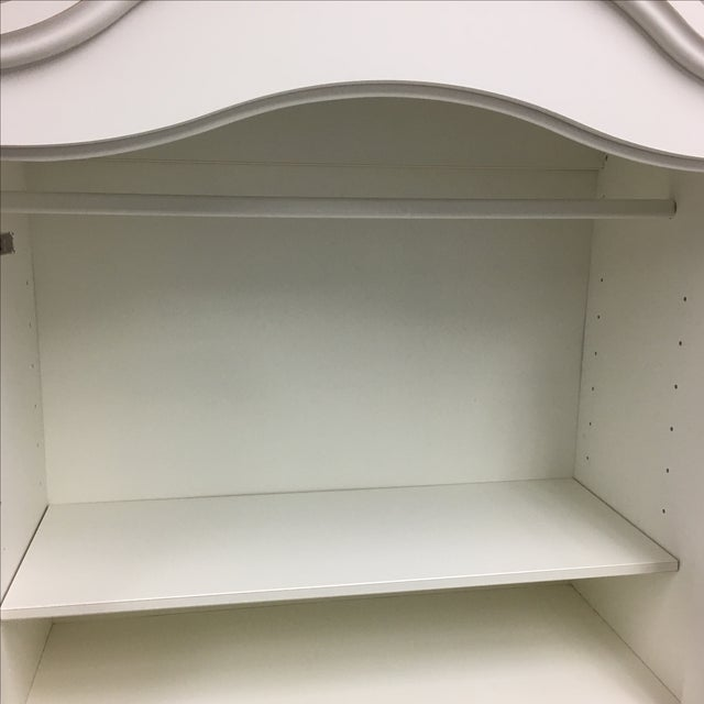 White Cottage Style Armoire - Image 6 of 8