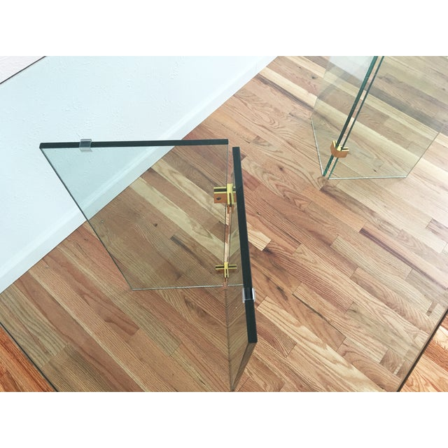 Beveled Glass Dining Table - Image 5 of 8