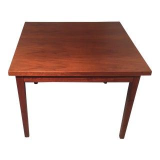 Mid Century Walnut Veneer Side Table