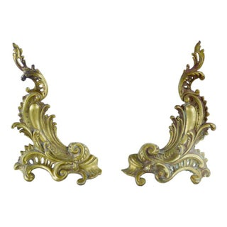 Brass & Iron French Fireplace Chenets