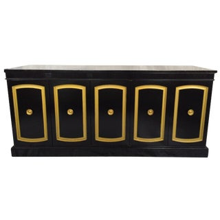 Drexel Black Lacquered Credenza
