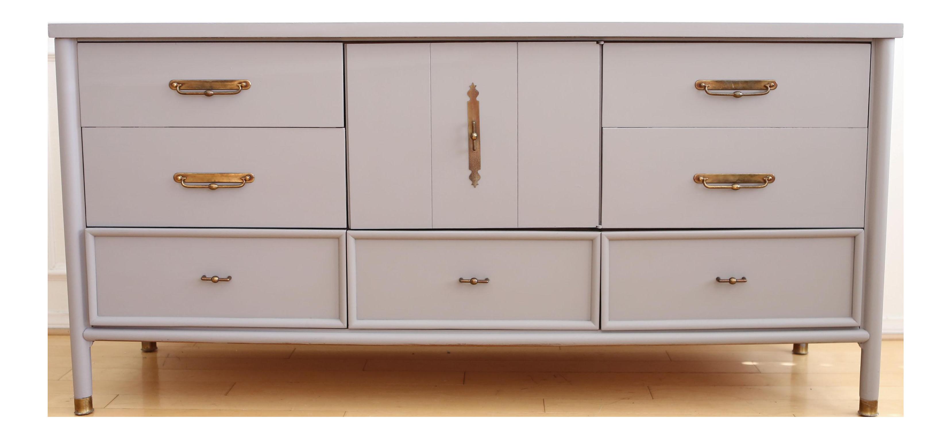 Vintage Modern Gray Dresser