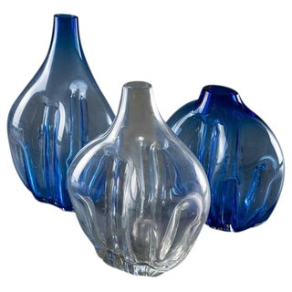 Set of Three Murano Glass Vases by Toni Zuccheri