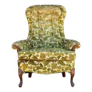 High-Back Mid-Century Armchair