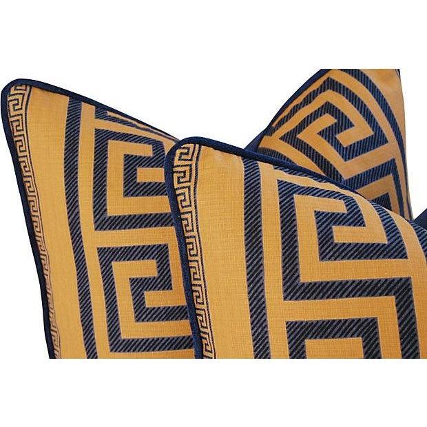 Designer Pierre Frey Greek Key Pillows - A Pair - Image 8 of 11