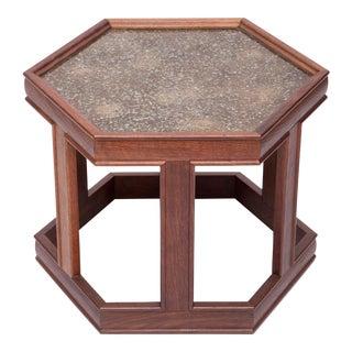 Pair of Hexagonal Occasional Tables by John Keal for Brown Saltman