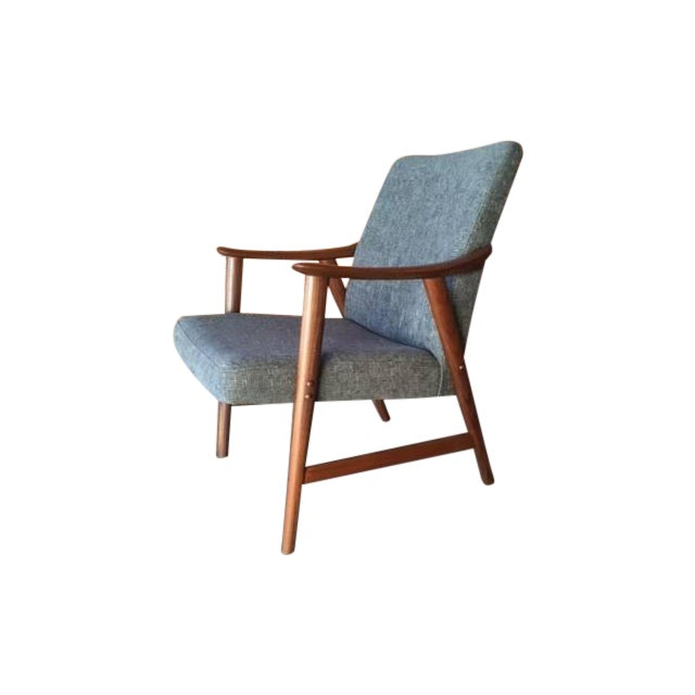 Adolf Relling Mid-Century Refinished Gray Chair - Image 1 of 6
