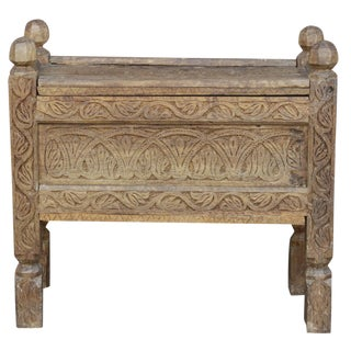 Carved Teak Swat Dowry Chest