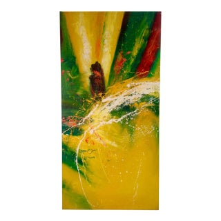 Gerhard Richter Style Abstract Painting on Canvas