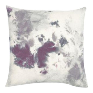 """Hand Dyed Purple Grey Marble Pillow Cover - 20"""" x 20"""""""