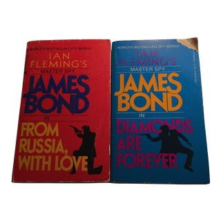 """James Bond"" by Ian Fleming Softcovers - Set of 2"