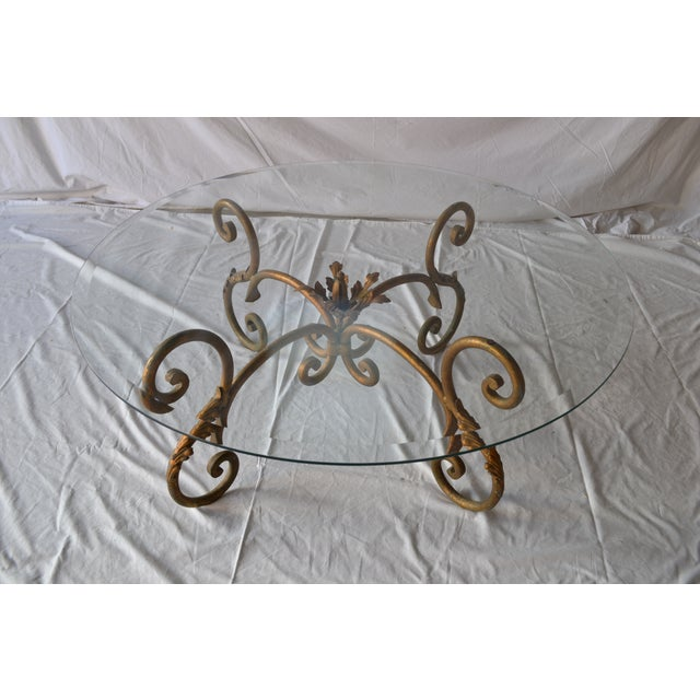 Vintage Italian Gilded Base Cocktail Table - Image 3 of 6