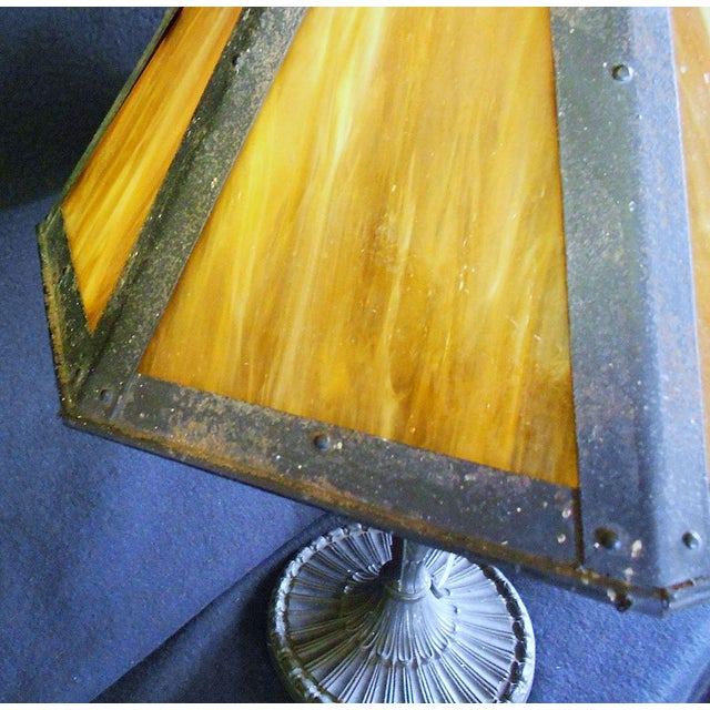 Antique Pittsburgh Lamp With Eight Panel Shade - Image 6 of 9